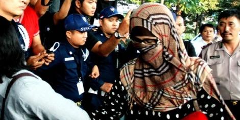 Neneng Nazaruddin saat ditangkap KPK (Foto:dok okezone)