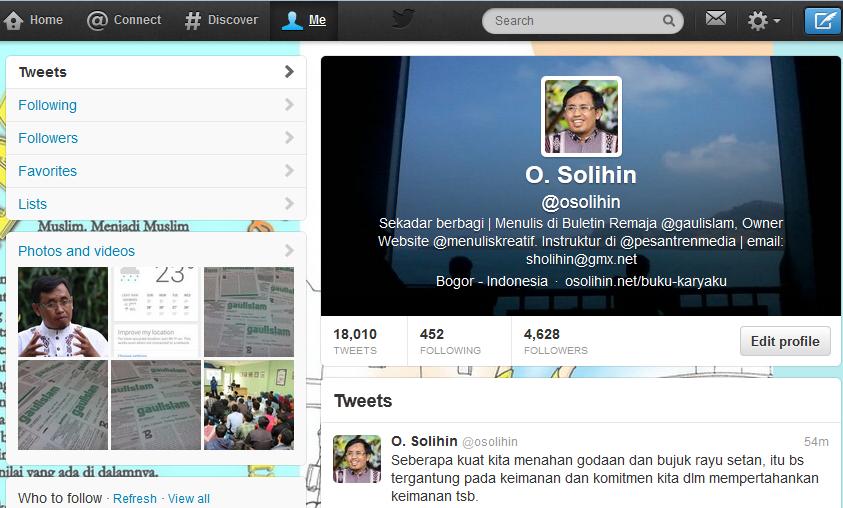 Akun Twitter saya: @osolihin
