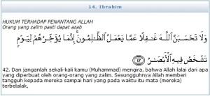IBRAHim ayat42