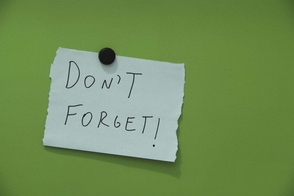 Jangan Sengaja Lupa
